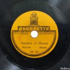 Discos de pizarra: DISCO DE PIZARRA 15 CENT SAMBRE ET MEUSE / LA PAISANA ODEONETTE. Lote 280103708