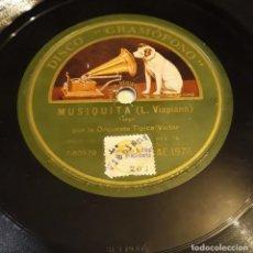 Discos de pizarra: PIZARRA. 78 RPM. DISCO GRAMÓFONO AE 1975. ORQUESTA TIPICA VICTOR. MUSIQUITA / CUANDO TU QUIERAS. Lote 276081808