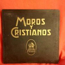"""Discos de pizarra: ALBUM CON 3 DISCOS DE PIZARRA """"MOROS Y CRISTIANOS"""" EN PERFECTO ESTADO DE ODEON. Lote 282485863"""