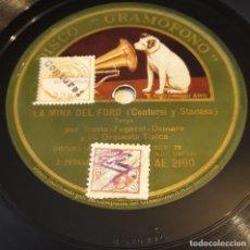 Discos de pizarra: PIZARRA 78 RPM. DISCO GRAMÓFONO AE 2190.TRIO ARGENTINO IRUSTA...LA MINA DEL FORD / IRIGOYEN SOLO. Lote 282578138