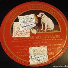 Discos de pizarra: PIZARRA. 78 RPM. DISCO GRAMÓFONO DA 868. MIGUEL FLETA. CANCIÓN DE LA ESPADA / ROMANZA. Lote 282909698