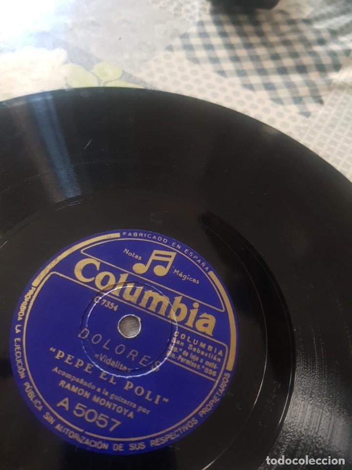 DISCO PIZARRA- PEPE EL POLI- BULERIAS -- MANOLO CRUZ Y DOLORES (Música - Discos - Pizarra - Flamenco, Canción española y Cuplé)