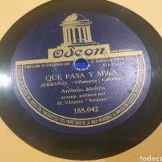 Discos de pizarra: ANTONIO MOLINA 78 RPM. Lote 286527648