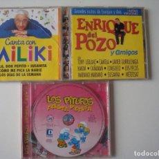 Discos de pizarra: CD MILIKI - ENRIQUE DEL POZO Y SUS AMIGOS - LOS PITUFOS. Lote 286899433