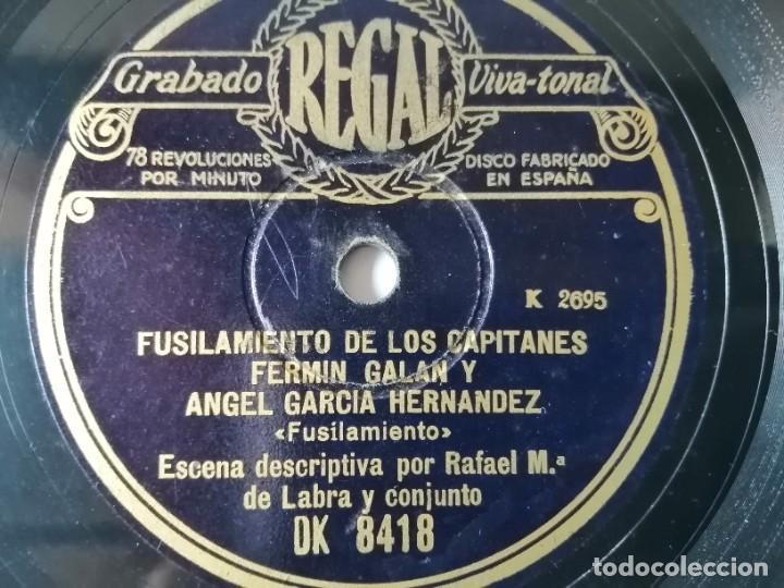 RAFAEL Mª DE LABRA - FUSILAMIENTO DE LOS CAPITANES FERMÍN GALÁN Y ÁNGEL GARCÍA (Música - Discos - Pizarra - Bandas Sonoras y Actores )