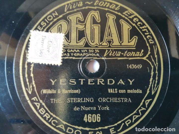 Discos de pizarra: The Cavaliers / The sterling Orchestra - Lazy River / Yesterday - Regal 4606 - Foto 2 - 286997583