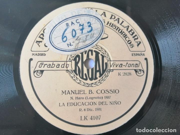 Discos de pizarra: Manuel Bartolomé Cossio - Comentarios sobre el Greco / La educación del niño - Archivo de la palabra - Foto 2 - 287373173