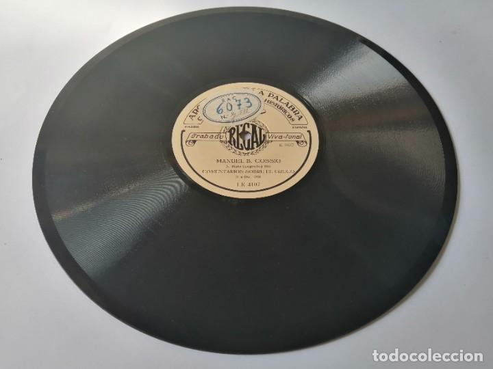 Discos de pizarra: Manuel Bartolomé Cossio - Comentarios sobre el Greco / La educación del niño - Archivo de la palabra - Foto 4 - 287373173