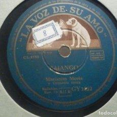 Discos de pizarra: PIZARRA LA VOZ DE SU AMO GY 1052 - MARIANITO MORÉS - TAQUITO MILITAR, BAIANGO -. Lote 287858263