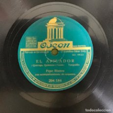 Discos de pizarra: EL AFILADOR-ZACATIN ZACATAN, PEPE BLANCO. Lote 287927348