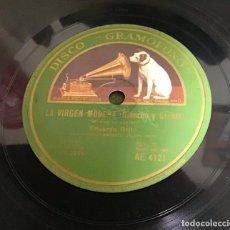 Discos de pizarra: LA VIRGEN MORENA (RIANCHO Y GRENET), EDUARDO BRITO. Lote 287929483