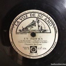 Discos de pizarra: EN FORMA-OASIS, ORQUESTA JOE LOSS. Lote 287934453
