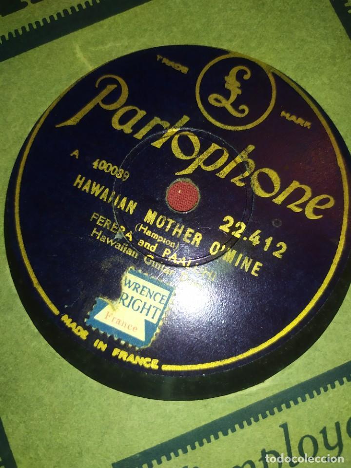 Discos de pizarra: DISCO PIZARRA PARLOPHONE FRANCE FERRERA AND PAALUHI MADRE HAWALLANA HAWAIIAN MOTHER OMINE CHIQUITA - Foto 3 - 288078758