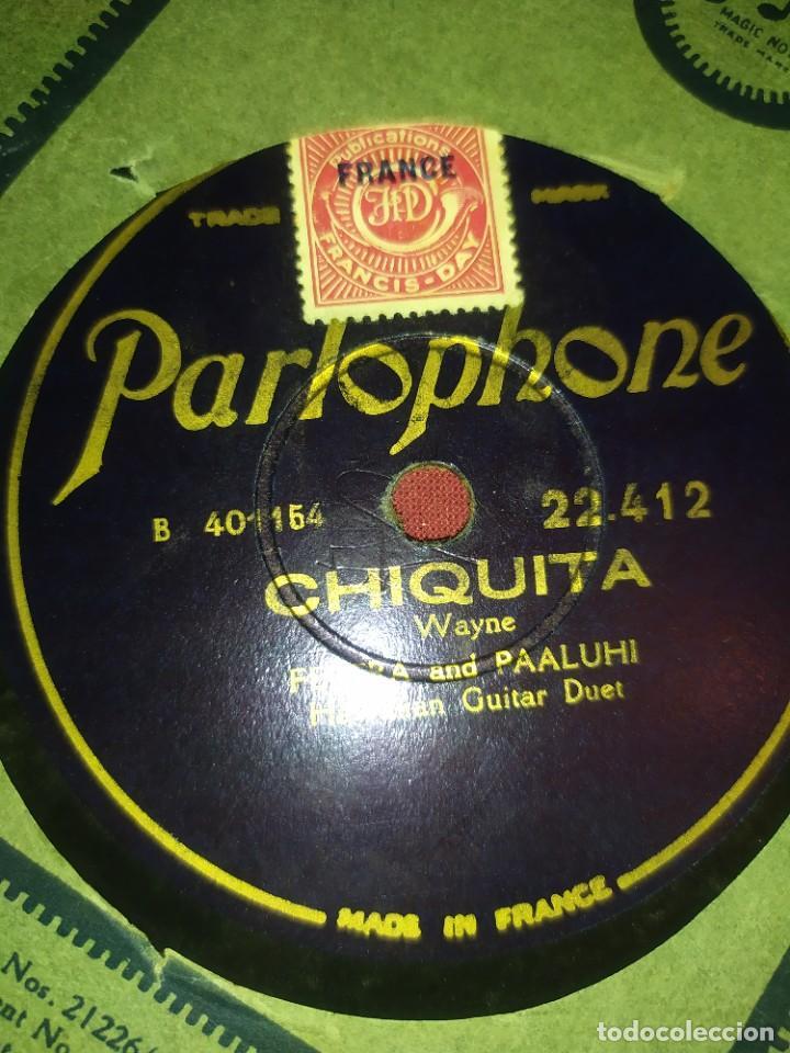 Discos de pizarra: DISCO PIZARRA PARLOPHONE FRANCE FERRERA AND PAALUHI MADRE HAWALLANA HAWAIIAN MOTHER OMINE CHIQUITA - Foto 9 - 288078758