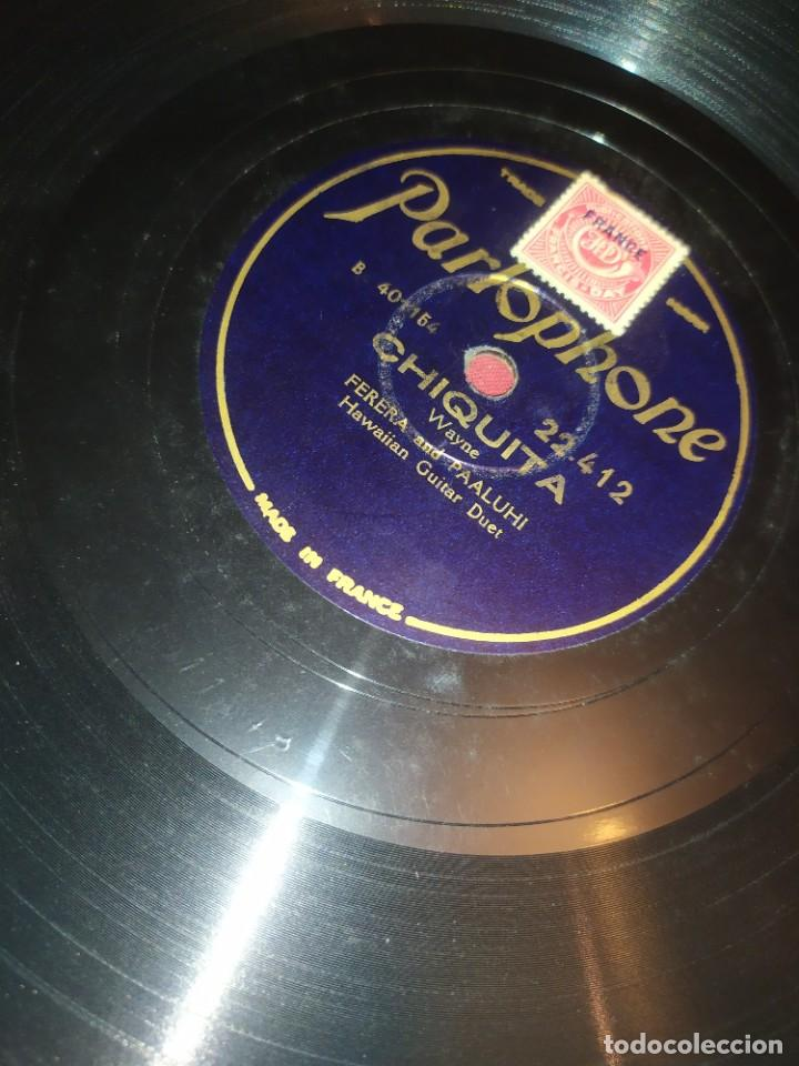 Discos de pizarra: DISCO PIZARRA PARLOPHONE FRANCE FERRERA AND PAALUHI MADRE HAWALLANA HAWAIIAN MOTHER OMINE CHIQUITA - Foto 10 - 288078758