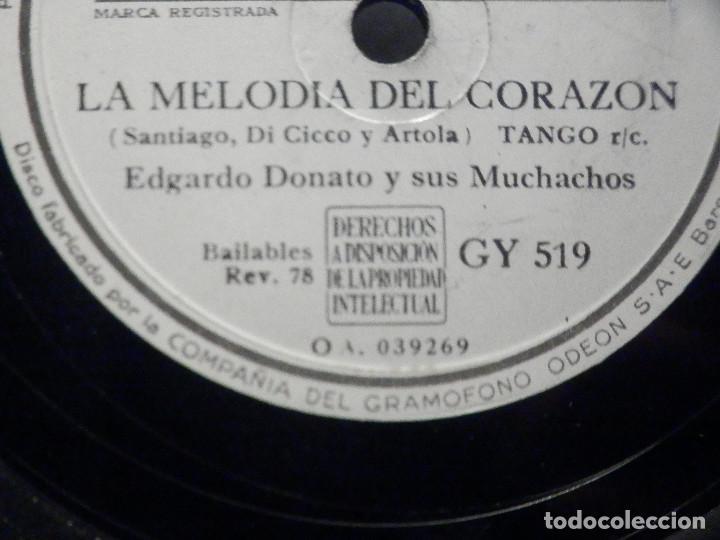 Discos de pizarra: PIZARRA La Voz de su Amo GY 51 - Osvaldo Fresedo - Esta Noche - Edgardo Donato, Melodia del Corazón - Foto 2 - 288361303