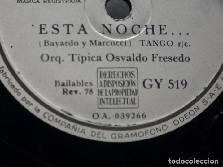 Discos de pizarra: PIZARRA La Voz de su Amo GY 51 - Osvaldo Fresedo - Esta Noche - Edgardo Donato, Melodia del Corazón - Foto 3 - 288361303
