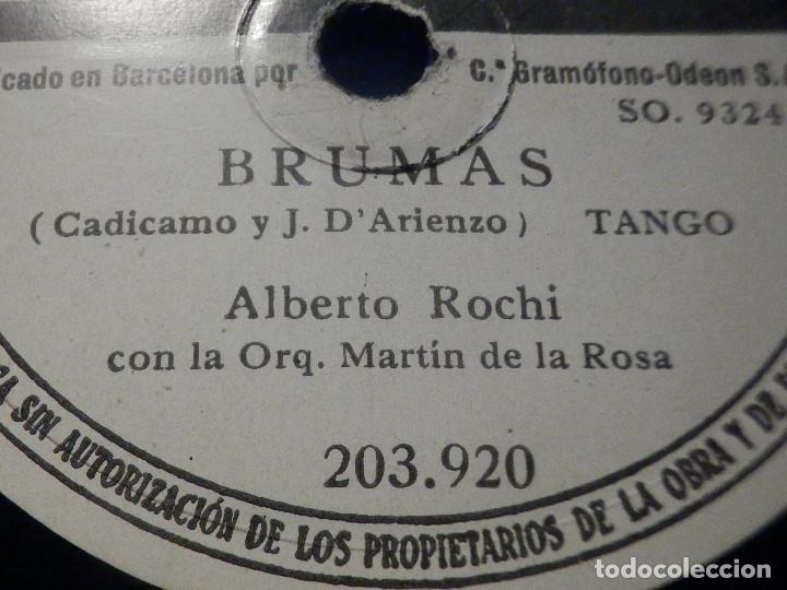 Discos de pizarra: PIZARRA Odeon 203.920 - Alberto Rochi - Apasionadamente - Brumas - Foto 2 - 288369253