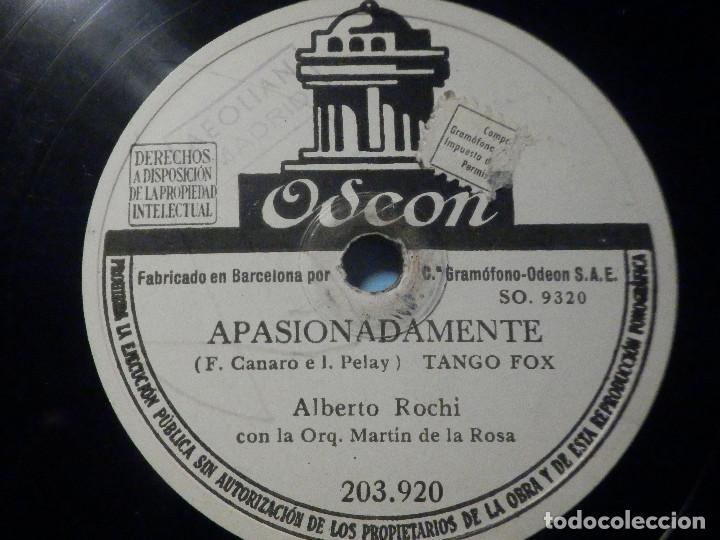 Discos de pizarra: PIZARRA Odeon 203.920 - Alberto Rochi - Apasionadamente - Brumas - Foto 3 - 288369253