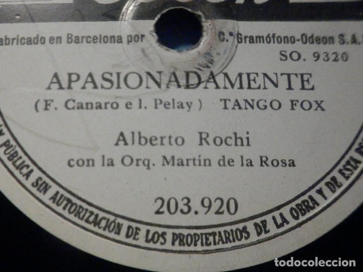 Discos de pizarra: PIZARRA Odeon 203.920 - Alberto Rochi - Apasionadamente - Brumas - Foto 4 - 288369253