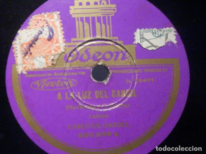PIZARRA ODEON 200.039 - CARLOS GARDEL - ROSAS DE ABRIL - A LA LUZ DEL CANDIL (Música - Discos - Pizarra - Solistas Melódicos y Bailables)