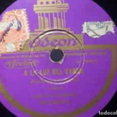 Discos de pizarra: PIZARRA ODEON 200.039 - CARLOS GARDEL - ROSAS DE ABRIL - A LA LUZ DEL CANDIL. Lote 288370243
