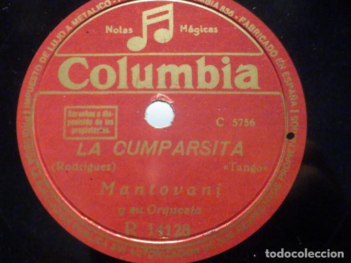 PIZARRA COLUMBIA R 14128 - MONTOVANI - CELOS - LA CUMPARSITA (Música - Discos - Pizarra - Solistas Melódicos y Bailables)
