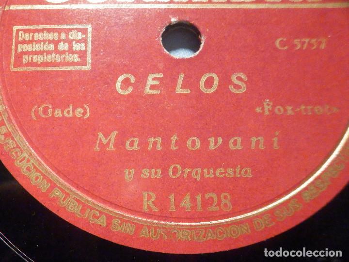Discos de pizarra: PIZARRA Columbia R 14128 - Montovani - Celos - La Cumparsita - Foto 3 - 288372938
