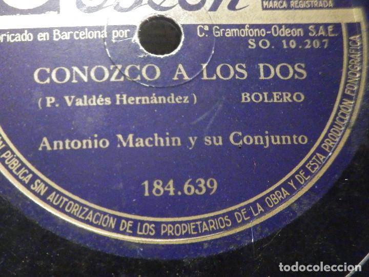 Discos de pizarra: PIZARRA Odeón 184.639 - Antonio Machin - Conozco a los dos - Cien Flores blancas - Foto 2 - 288388678