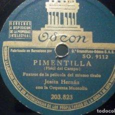 Discos de pizarra: PIZARRA ODEÓN 203.823 - JOSITA HERNÁN - PIMENTILLA - A LA LUZ DE LA LUNA. Lote 288389213