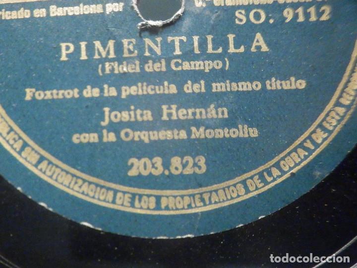 Discos de pizarra: PIZARRA Odeón 203.823 - Josita Hernán - Pimentilla - A la Luz de la luna - Foto 2 - 288389213