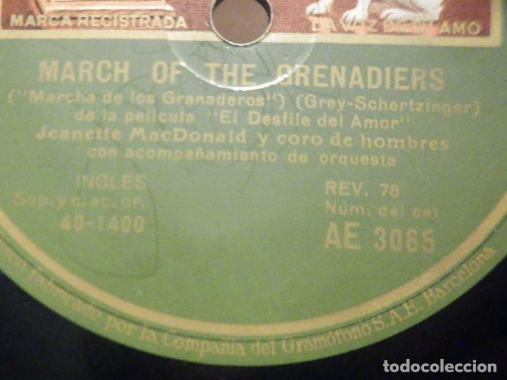 Discos de pizarra: PIZARRA Gramófono AE 3065 - Jeanette Macdonald - La Marcha de los granaderos - Dream Lover - Foto 3 - 288398488