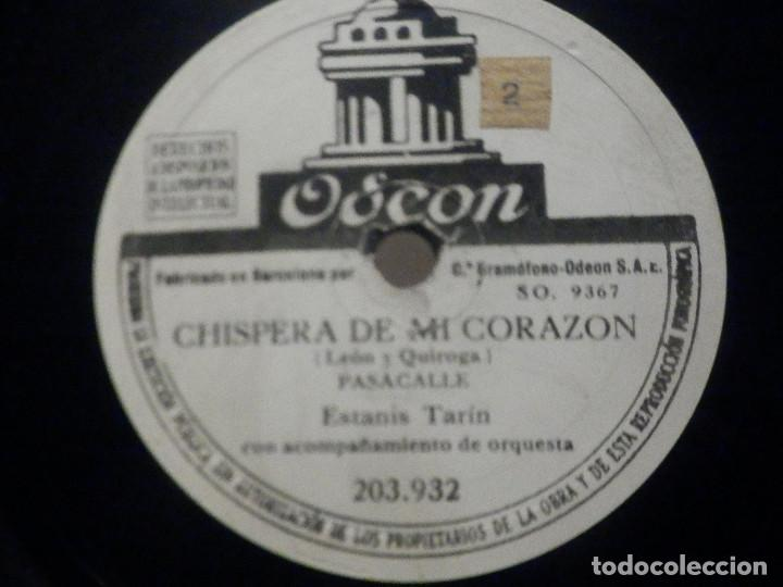 PIZARRA ODEON 203.932 - MARI PAZ - COPLAS DE LUIS CANDELAS - ESTANIS TARIN, CHISPERA DE MI CORAZÓN (Música - Discos - Pizarra - Bandas Sonoras y Actores )