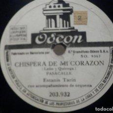 Discos de pizarra: PIZARRA ODEON 203.932 - MARI PAZ - COPLAS DE LUIS CANDELAS - ESTANIS TARIN, CHISPERA DE MI CORAZÓN. Lote 288401853