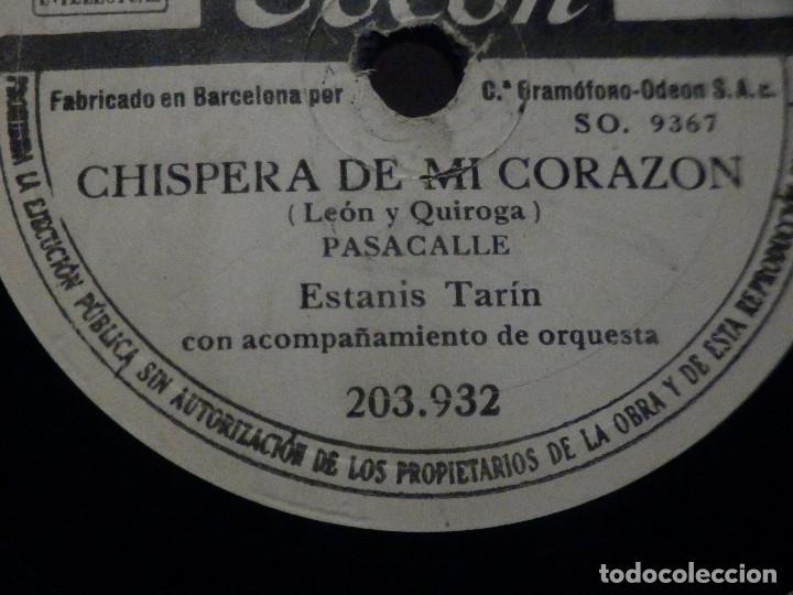 Discos de pizarra: PIZARRA Odeon 203.932 - Mari Paz - Coplas de Luis Candelas - Estanis Tarin, Chispera de mi corazón - Foto 2 - 288401853