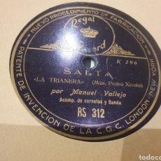 Discos de pizarra: MANUEL VALLEJO SAETAS. Lote 288715023