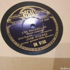 Discos de pizarra: JOSE SUAREZ DISCO GRAMÓFONO. Lote 288715778