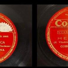 Discos de pizarra: PIZARRA !! COBLA BARCELONA / LA NOSTRA CUCA-HERMINIA / COLUMBIA / 25 CM / BUEN ESTADO. DIFÍCIL.. Lote 288988978