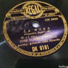 Discos de pizarra: 78 RPM JOSE SUAREZ. Lote 289339463