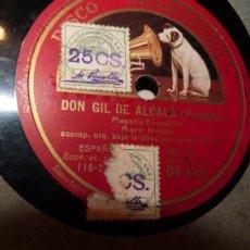 Discos de pizarra: DISCOS 78 REVOL. EN ESTUCHE. CONTIENE 7 DISCOS DOS CARAS. HAY IMAGEN DE SU MUSICA. Lote 289519433