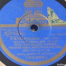 Discos de pizarra: NIÑA DE CHICLANA Y NIÑO DE LA FLOR. Lote 289694228