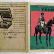 Discos de pizarra: 1930 CATALOGO DE DISCOS REGAL Y GRAMÓFONO. Lote 289753913