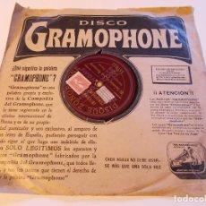 Discos de pizarra: DISCO GRAMOLA, GRAMOFONO, DISCO DE PIZARRA LA RISA Y EL SERMON DE SAN BERNARDO, PINEDO. Lote 291406368