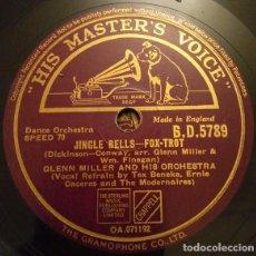 Discos de pizarra: LP GLENN MILLER - JINGLE BELLS / AMERICAN PATROL - HIS MASTER'S VOICE B.D.5 (EX+) PIZARRA 78RPM. Lote 293153233