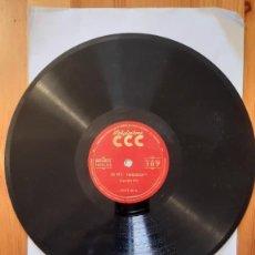 Discos de pizarra: DISCO DE PIZARRA - POLIGLOPHONE CCC - ESPAÑOL / INGLES. Nº107 - LECCION 9 Y 10. Lote 293796128