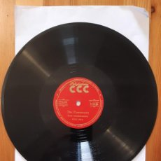 Discos de pizarra: DISCO DE PIZARRA - POLIGLOPHONE CCC - INGLES FONETICA. Nº109 - LAS CONSONANTES. Lote 293796538
