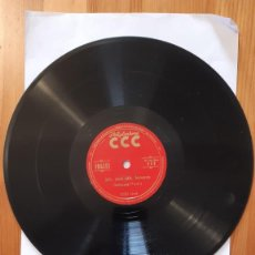 Discos de pizarra: DISCO DE PIZARRA - POLIGLOPHONE CCC - INGLES Nº111 - LECCIONES 5-6-7-8. Lote 293797273