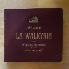 """Discos de pizarra: DISCO DE PIZARRA - ÁLBUM - LA WALKYRIA - """"LA VOZ DE SU AMO"""" - WAGNER - COMPLETA !!. Lote 293811048"""