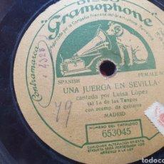 Discos de pizarra: LUISA LA DE LOS TANGOS 78 RPM. Lote 294818108