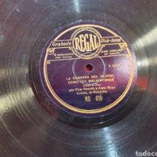 Discos de pizarra: JOTA PILAR GASCON Y JUSTO ROYO. Lote 294820218